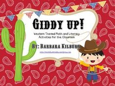 Western themed math and literacy activities perfect for any kindergarten or first grade classroom.