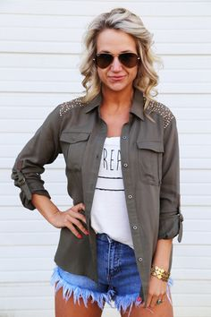 Stud For What {Military Jacket}