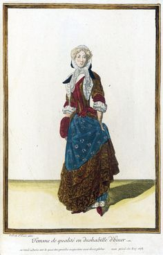 'Femme de Qualité en Deshabille d'Hiuer' fromRecueil des modes de la cour de FrancebyJean Dieu de Saint-Jean, 1678