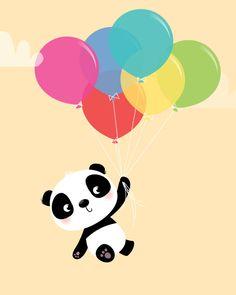 Baby Junge Kunst  Panda Kindergarten drucken von IreneGoughPrints