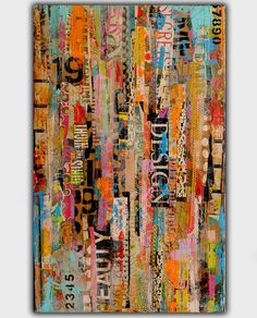 Mixed media on wood