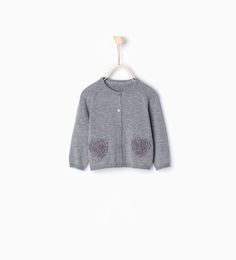 Knit heart cardigan