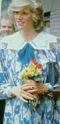 May 24, 1984: Princess Diana visits the Albany Community Center in Depford, Long, to view a display of posters