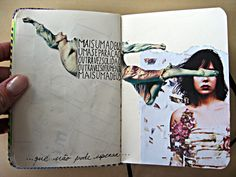 interesting use of images and still leaving enough room for a journal entry Marjorie Fallon via Cheryl Smith