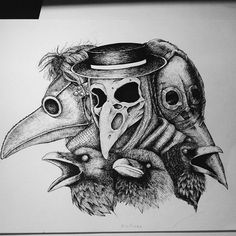 Image result for plague doctor tattoo