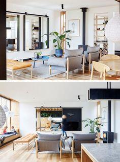 die architekten haben fr dieses haus einen modernen hausanbau aus holz entworfen der im kontrast zum viktorianischen stil des ursprnglichen hauses steht - Modernes Wohnzimmer Im Viktorianischen Stil