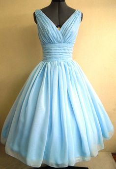 vintage powder blue bridesmaid dresses - Google Search