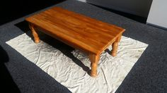 Old Heat Rimu coffee table hubby is letting me paint!