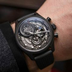 With almost everything in shades of grey the remarkable @zenithwatches El Primero Tourbillon Skeleton has no problem standing out from the rest. #zenithwatches #legendsareforever #swisswatch #wristporn Picture by @todayonthewrist. #Zenith #ElPrimero #Tourbillon #ZenithElPrimero #Chronomaster #luxury #WatchAnish #luxurywatch #luxurywatches #HODINKEE #zenithmoment #lovewatches #dailywatch #swissmade #SwissWatches #watch #watches #donfle #Calibre1998 #zenithelprimero #chronograph by donfle