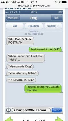 If dogs could text 8