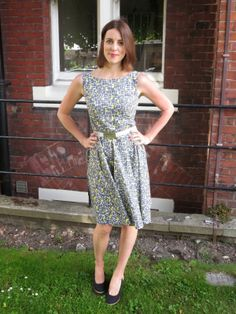 Clare and her Betty Bacteria dress