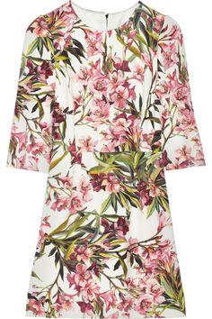 Dolce & Gabbana Floral-print twill mini dress NET-A-PORTER.COM  B U T - full!!!!!!!!!!!