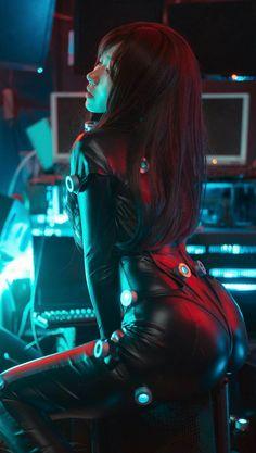 Girls in leather Anime Cosplay, Latex Cosplay, Best Cosplay, Cosplay Girls, Cosplay Costumes, Kawaii Cosplay, Dreamland, Cyberpunk Aesthetic, Cyberpunk Character