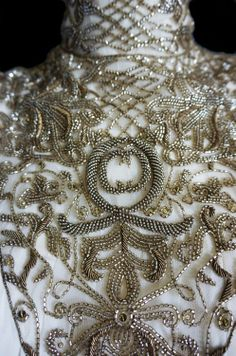 Glass beads embroidery