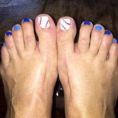 KC Royals Baseball toenails pedicure