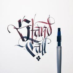 Stand Tall. When it's hardest is often when it's most important. __________________________________ #makedaily #calligraphy #calligraffiti #calligritype #typographyinspired #blackletter #inking #ink #Fraktur #lettering #pilotparallelpen #handstyles #thedailytype #caligrafia #graffiti #showusyourtype #graphicdesign #goodtype #typedaily #typespire #handmadefont #art