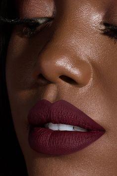 Ellarie x ColourPop - Sessy deep red wine Ultra Matte liquid lipstick Wine Lipstick, Best Liquid Lipstick, Lipstick For Dark Skin, Dark Skin Makeup, Best Lipsticks, Lipstick Shades, Lipstick Colors, Lip Colors, Eye Makeup