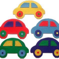 Colourful felt car wall decorations