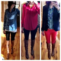 Winter to Spring outfits for riding boots