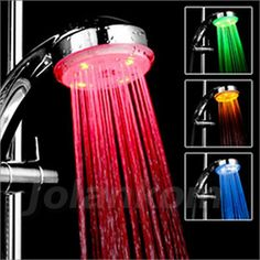 Cheap led douchekop, Buy Quality saving shower head directly from China water saving shower head Suppliers: Beelee Laagste Prijs Romantische 3 Kleur LED Hand shower Water saving shower heads Badkamer Single head doccia led douchekop 015 Bathroom Shower Heads, Led Shower Head, Shower Faucet, Bathroom Pink, Bath Shower, Bathroom Vanities, Bathroom Fixtures, Master Bathroom, New Technology Gadgets