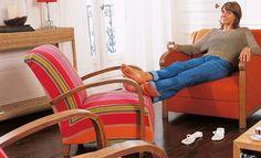 Tapisser un ancien fauteuil Wingback Chair, Floor Chair, Recliner, Mattress, Accent Chairs, Restoration, Cushions, Furniture, Design