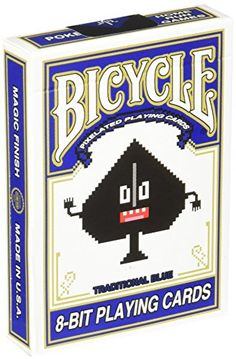 Bicycle 8Bit Playing Cards Blue -- Check this awesome product by going to the link at the image.