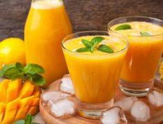"Mango juice(""sarbath"" is tamil) is one of the simple fruit juice recipe. It takes part mainly in summer juice recipes and it is a healthy juice. Find Recipes By Ingredients, Mixed Fruit Juice, Smoothies, Mango Pulp, Fruit Juice Recipes, Milkshake Recipes, Juicing For Health, Iftar, Recipe Collection"