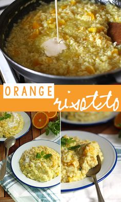 Risotto with oranges and mint. Surprisingly delicious combination!