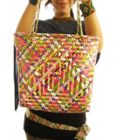 Mexican Rafia awesome handmade pattern  d0a3ac9cf1b50