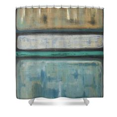 Abstract Shower Curtain featuring the painting Tranquility by Vesna Antic