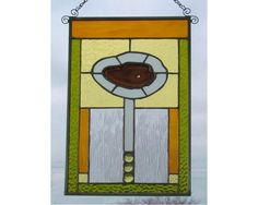 Brazilian Agate  Original Stained Glass Panel by northwindglass