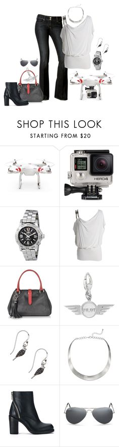 """""""Copter #1"""" by mwaldhaus ❤ liked on Polyvore featuring GoPro, Breitling, Paige Denim, Buti, John Lewis, McQ by Alexander McQueen and Ray-Ban"""