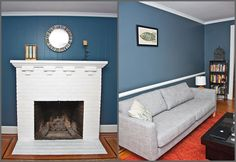 painted white fireplace ... to do!