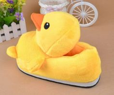 Leecos Winter Cute Yellow Duck Plush Cartoon Slippers Free Size Leecos,http://www.amazon.com/dp/B00GTE66Z4/ref=cm_sw_r_pi_dp_9beSsb13RJM82BZ4
