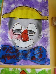portraits de clowns chez Béatrix: tribune libre - école petite section Circus Art, Circus Theme, Cirque Photo, Theme Carnaval, Clown Crafts, Big Top Circus, Kindergarten Art, Art Lessons Elementary, Camping Crafts