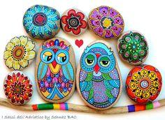My #paintedstone #owls https://www.facebook.com/ISassiDelladriatico