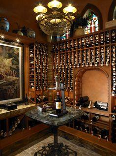 wine cellar In Homes   ... Alvarez Homes builder of Tampa Luxury Homes mediterranean-wine-cellar