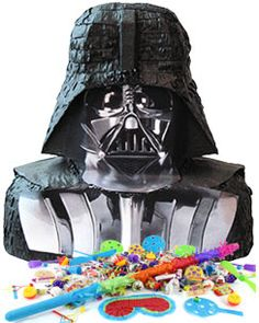 The perfect piñata for a Star Wars party. This Darth Vader piñata kit includes a piñata stick and party favours to put inside. SAVE OVER 10%.