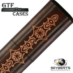 GTF Limited Edition 8 Brown Leather Pool Cue Case - Tooled Cue Case