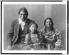 Reuben Black Boy and family [Algonquian Indian tribes of Montana, Wyoming, and Oklahoma]
