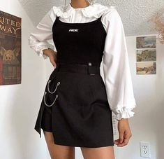 Rate this outfit from 💓 ▪ ▪ ▪ Tags: Style Outfits, Kpop Outfits, Edgy Outfits, Korean Outfits, Cute Casual Outfits, Retro Outfits, Grunge Outfits, Vintage Outfits, Girl Outfits
