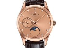 Zenith Looks To The Stars With The Ultra-Thin Moonphase - Watch Marvel Gents Watches, Watches For Men, Moonphase Watch, Telling Time, Moon Phases, Luxury Watches, Marvel, Stars, Sterne