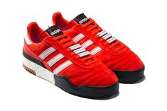 adidas Originals by Alexander Wang Creates Hybrid AW Bball Soccer Shoe: Adding BOOST to an iconic adidas Football silhouette. Best Mens Trainers, New Trainers, Adidas Football, Football Shoes, Football Silhouette, Shoe Releases, Red Sneakers, Sport Wear, Alexander Wang