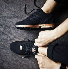 #Adidas ZX Flux Core Black/ Light copper