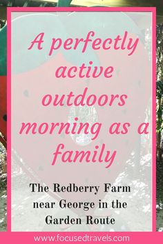 If you are looking for a place to spend an active morning outdoors with your family, the Redberry Farm near George in the Garden Route is the perfect place! Rome Travel, Travel List, Travel Advice, Budget Travel, Travel Guides, Best Restaurants In Rome, Top Europe Destinations, Camping With Kids, Travel Images
