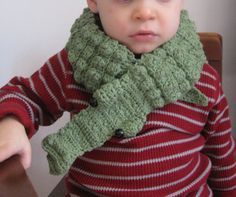 Funky Crochet Cotton and Flannel Alligator Scarf by 2FunkyChickens, $20.00