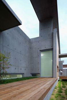 Mun Jeong Heon house by A.M Architects is surrounded by a huge concrete frame. Image via Dezeen.