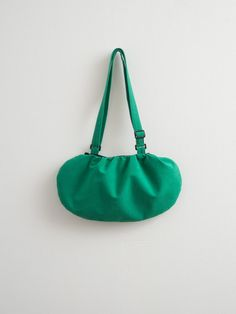 Bright Green Bag Faux / Vegan Suede Bag Purse Minimalist by Marewo