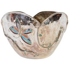 Emilia Castillo Silverplate Bowl with Butterflies