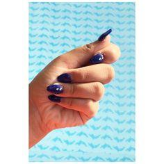 blue nails💙💅🏻